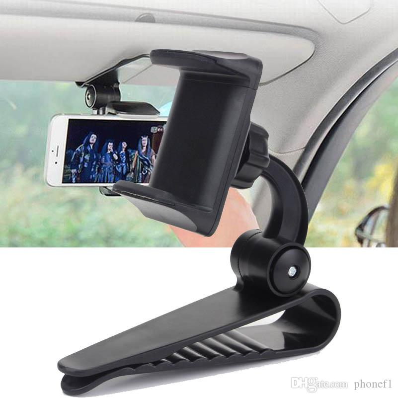 Neu Auto Sonnenblende Clip Mount Halter Stand Halterung für iPhone Samsung GPS