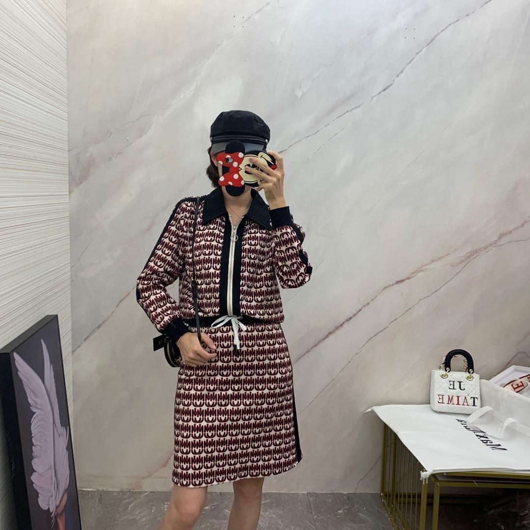 new fashion two piece outfits Plaid tie coat Leisure zipper short skirt tops party dresses women clothes