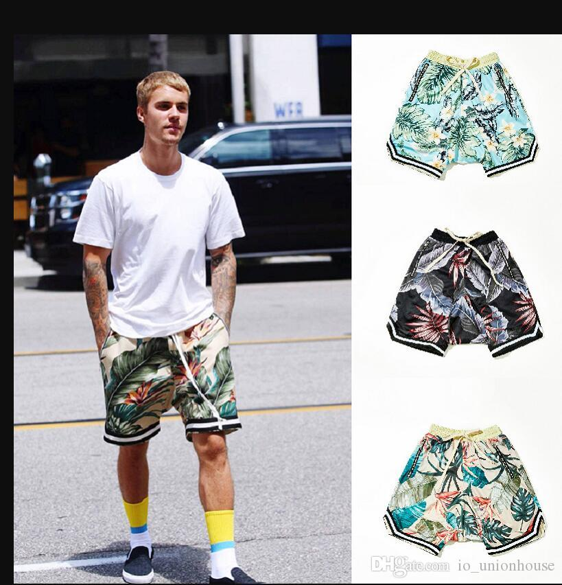 Fear of God Shorts 1997 Brand Limited Basketball Flower Shorts FOG Top Quality Shorts Summer Breathable Pants