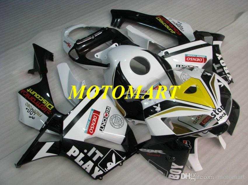 Kit de Carenagem da motocicleta para HONDA CBR600RR F5 05 06 CBR600 RR CBR 600RR 2005 2006 ABS Top branco preto Carimbos set + HB20