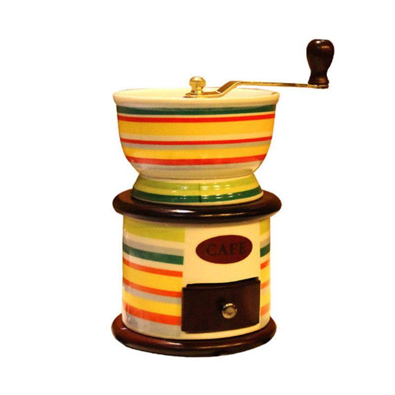 BEIJAMEI Retro manual Ceramic Coffee Bean Criador Grinder Nut Moinho de mão Ferramenta Grinding pequeno Retífica