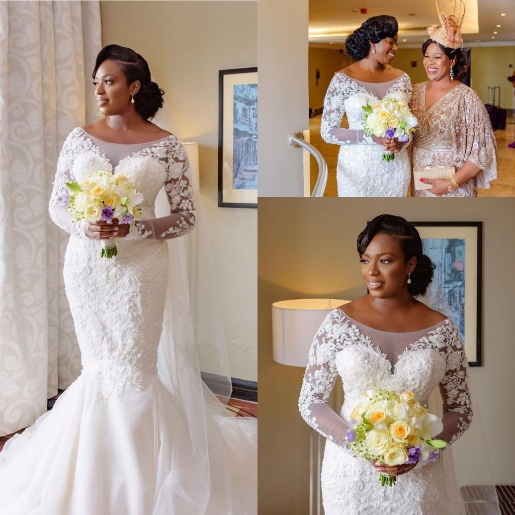 South African Mermaid Wedding Dresses Plus Size 20 Lace ...