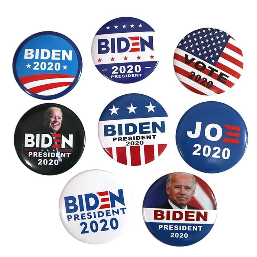 8 Stiller Joe Biden Broş 2020 ABD Başkanlık Seçim Biden Rozet Teneke Seçim Rozet Parti Favor ZZA2220 500Pcs