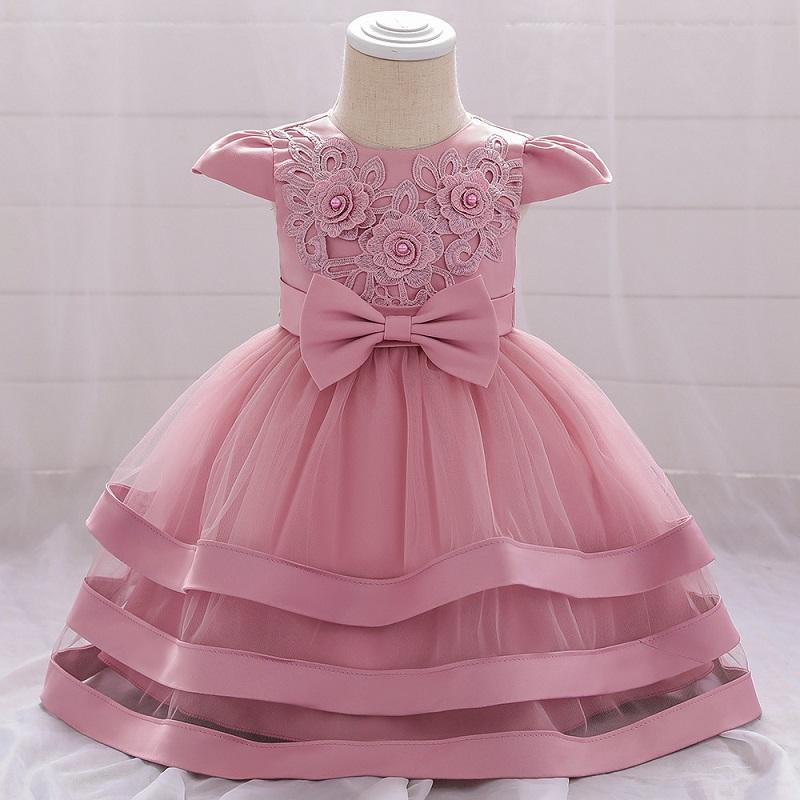 Vestidos de verano del bebé recién nacido del cumpleaños de la boda vestido de princesa vestido de graduación de la guardería de la bola del partido de cena