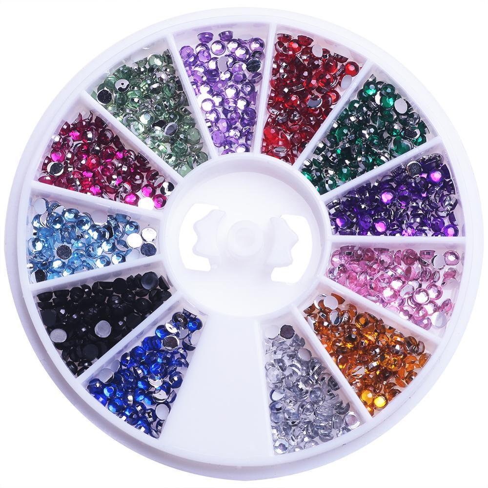 Decorazione 3D di arte misto del Rhinestone di colore di scintillio irregolare perline per manicure Nail Pietra In rotella fai da te accessori Punte