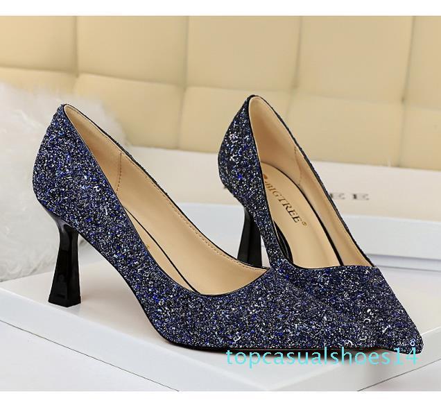 tamanho 34 a 43 de dama de honra designer de sapatos do casamento Bombas lantejoulas brilhantes saltos altos designer de moda de luxo mulheres sapatos t14