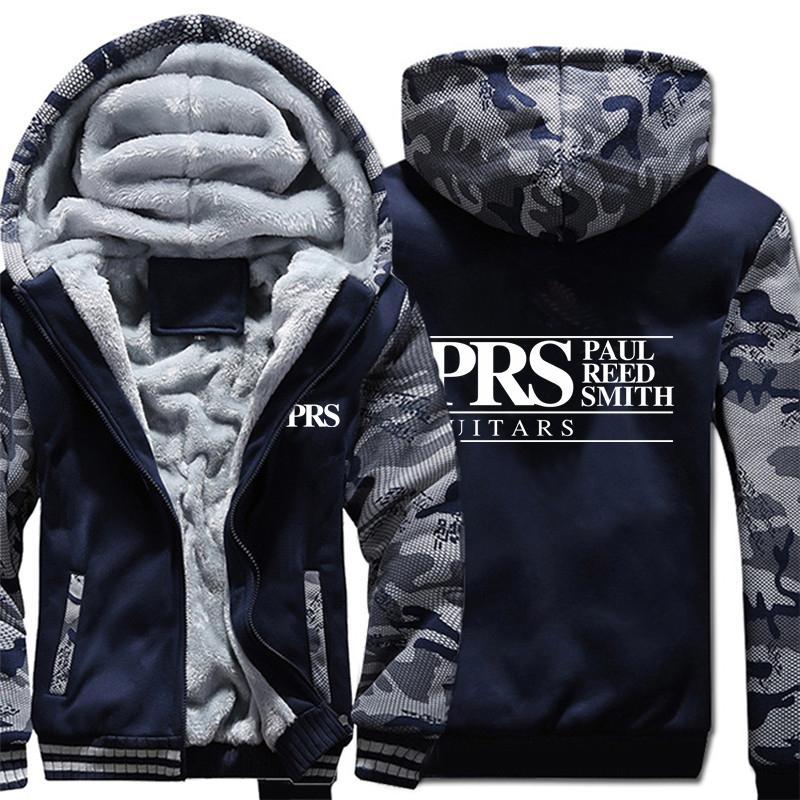 Reed Smith Hoodies camuflagem manga da jaqueta com capuz Zipper Inverno Fleece PRS Reed Smith Guitars camisola