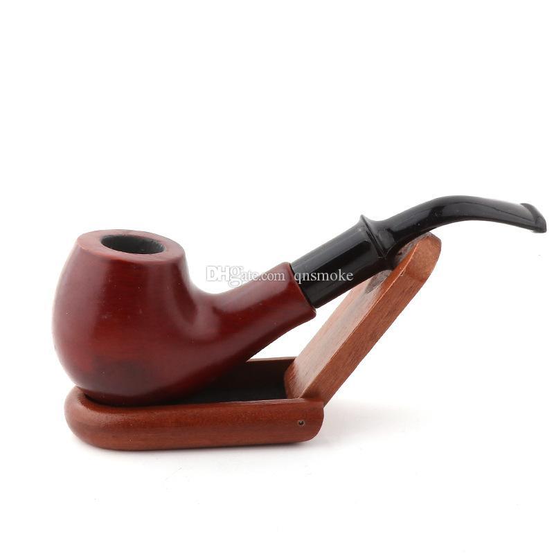 Nouvelle arrivée Durable En Bois Enchase Fumer Pipe Tabac Cigarettes Cigar Pipes