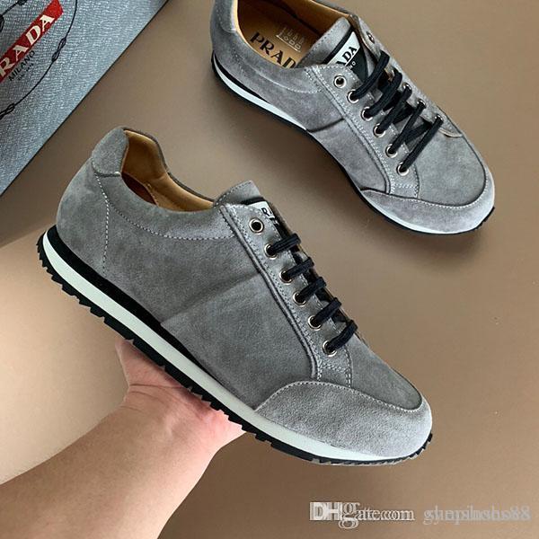 scarpe migliori uomini di modo di pullman di velocità scarpe classiche di lusso aiutare a basso traspirante Suede Lace piattaforma della pelle fino scarpe sportive di trasporto libero