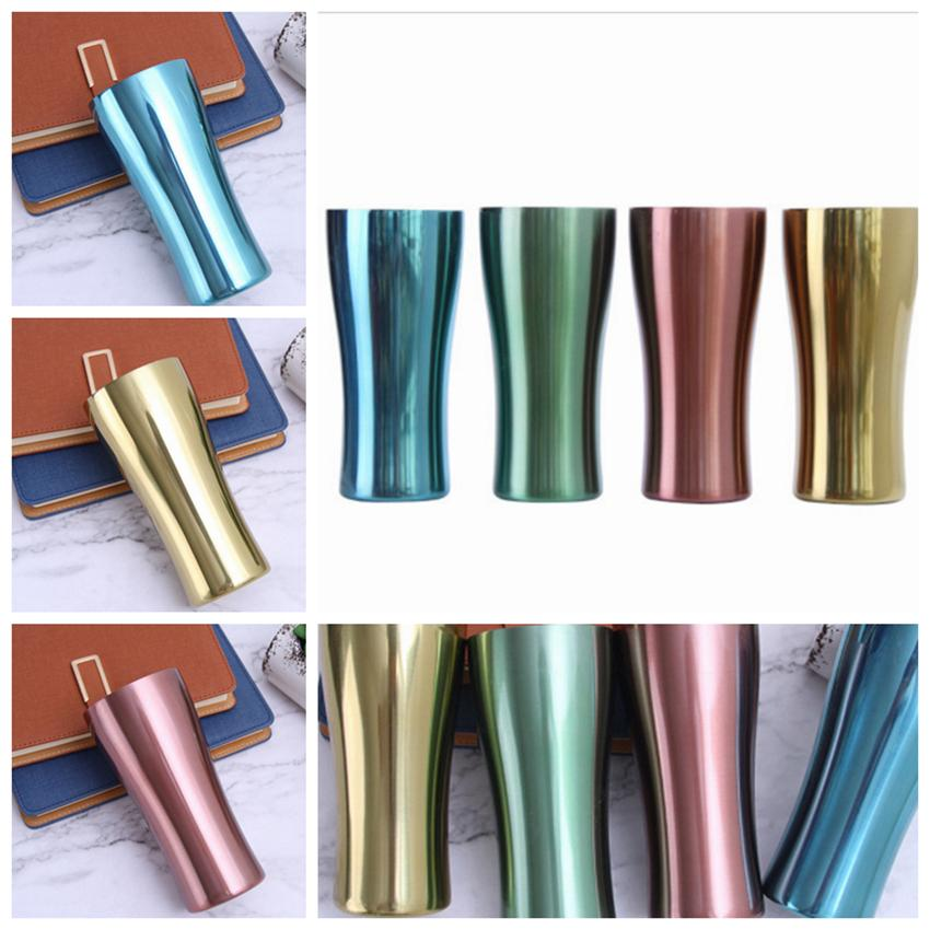 500ml Stainless Steel Mugs Metal sport cup single layer colorful Cups Outdoor car cup water bottle Tea Beer mug 4 Colors ZZA934-5