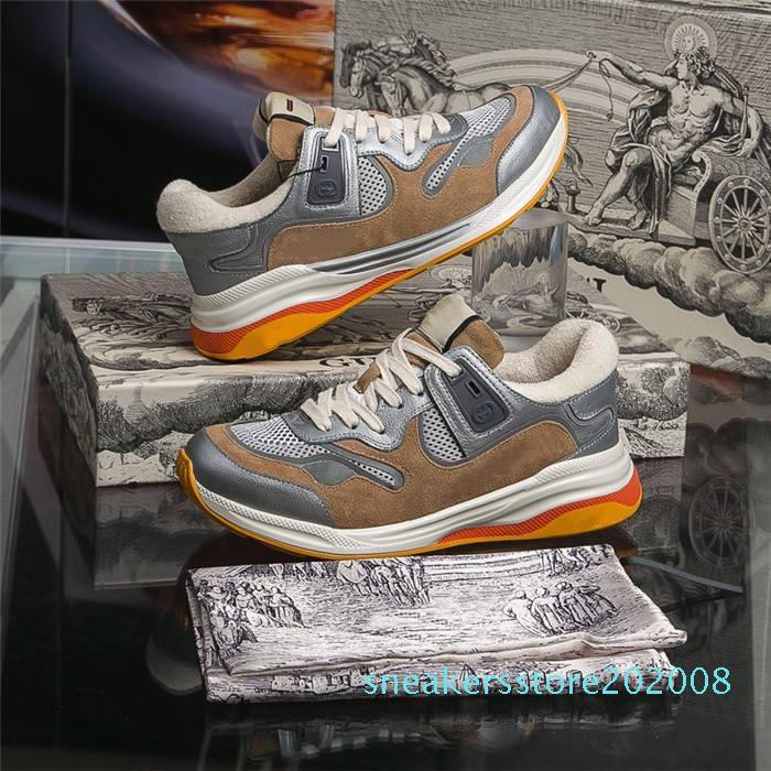 Zapatilla de deporte para mujer para hombre Ultrapace con reflector de tela, zapatos corrientes de los corredores clásico plana de gran tamaño con Sneaekers boxSize 34-46 s08