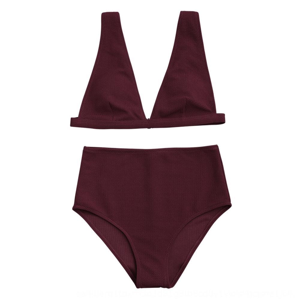 2019 vita alta bikini sexy speciale delle donne Bikini Swimsuit costume da bagno spaccato delle donne del tessuto