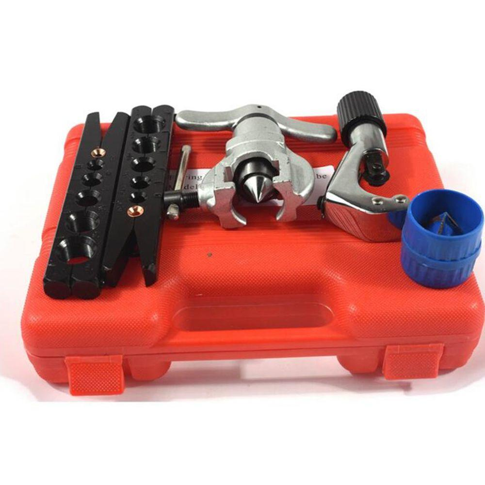 Ct-808 Eccentric Tube Flaring Tool Kit Metric And Inch Tube Expander Kit Air Conditioner Copper Pipe Reamer 6-19Mm 1/4-3/4 inch