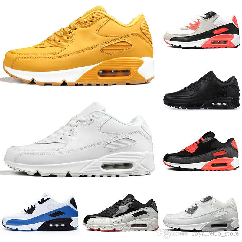 nike air max 90 Ayakkabıları Tasarımcı Eğitmen Yastık Yüzey Nefes Bayan Spor Ayakkabı Koşu toptan Moda Erkekler Sneakers Ayakkabı Klasik Erkek Tenis kadınlar
