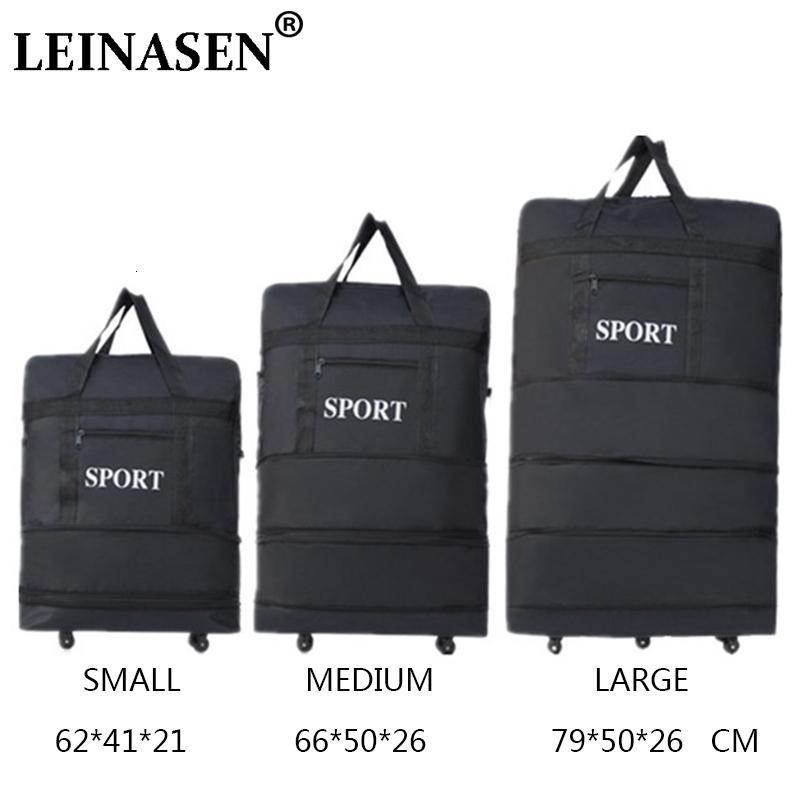 2019 LEINASEN оптовой сверхлегкого багажа дорожной сумка большой емкость универсальные дисков выдвижной складные коробки буксира CJ191210