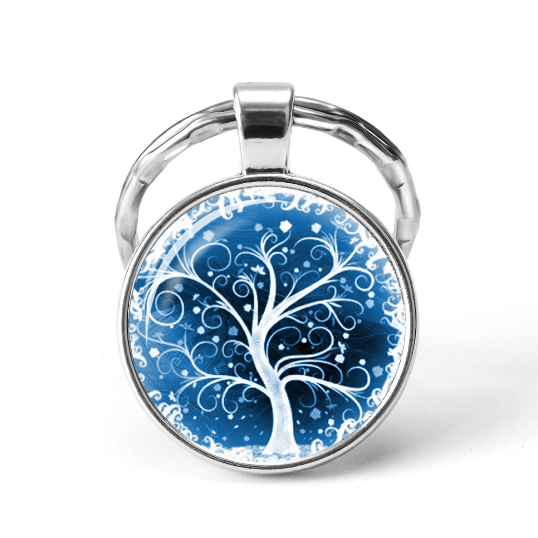 Nuova chiave Moda Catene Tree Of Life di vetro Cabochon accessori dei monili creativo ciondolo portachiavi regalo di festival per gli uomini donne