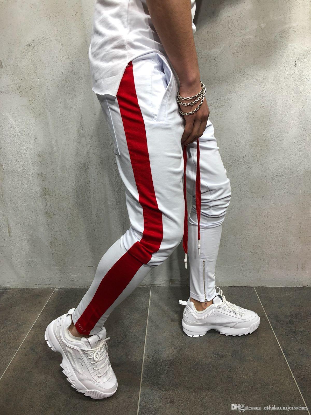 Mens Hiphop Dancing Street Jogger Pants Pantlones Fashion Pencil Zipper Designer Pants Sweatpant Sports Wear