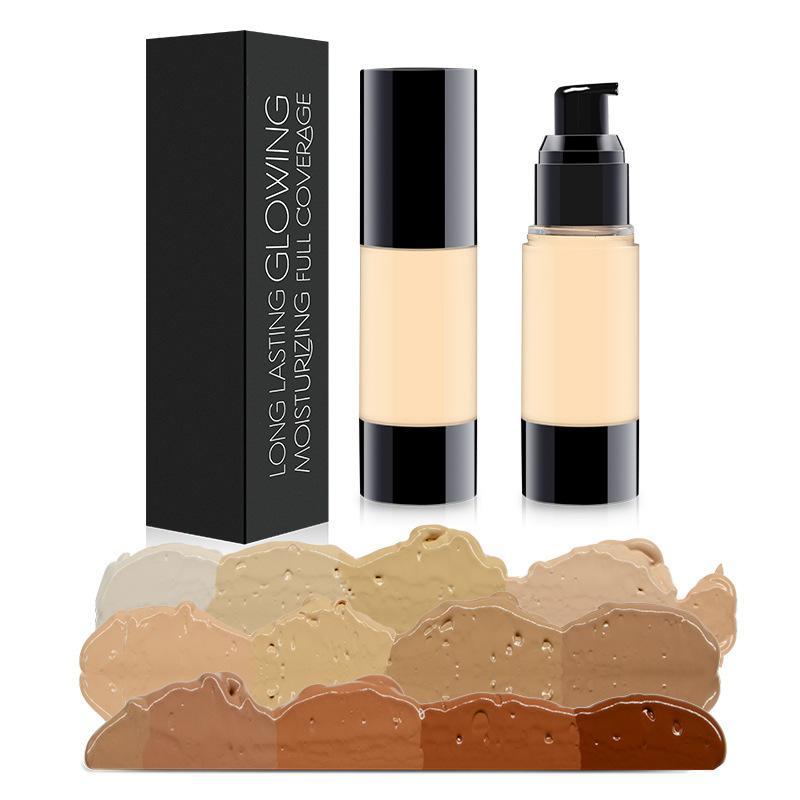 Fond de teint liquide correcteur de teint liquide isolant pour le maquillage 30 ml de crème de teint hydratante longue durée pour peau noire