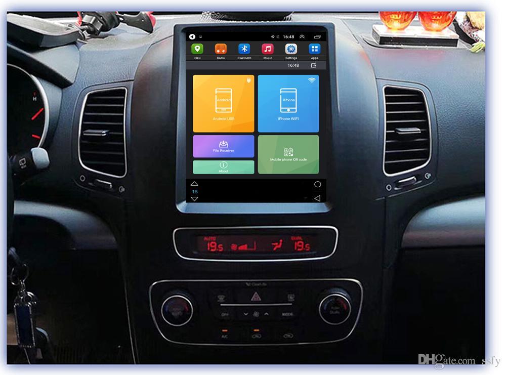 HD IPS Big screen Tesla Screen Vertical Screen Android Car PC GPS Navigation Radio 4G LTE Player For KIA Sorento 2013 2014 2015