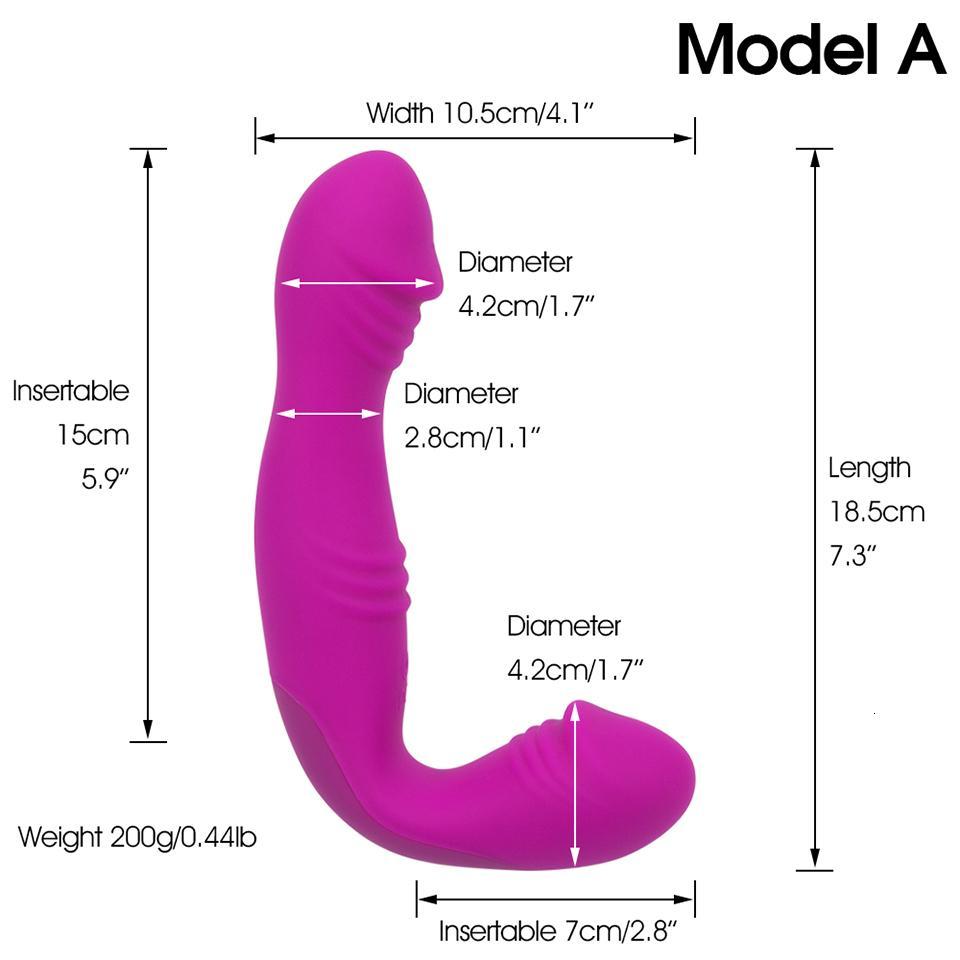 Sin tirantes Strapon Dildo Dual Lesbianas recargables Strap-ON para Pegging Doble Dildo Dildo Adult Vibrators Juguetes para Penis Y190711 XIFL