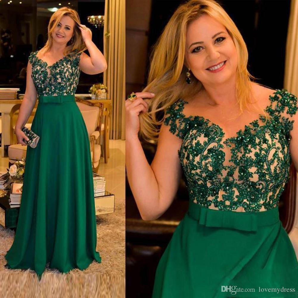Abiti Verdi Da Cerimonia.Acquista Abiti Da Madre Della Sposa Con Perline Ricami Verdi 2020