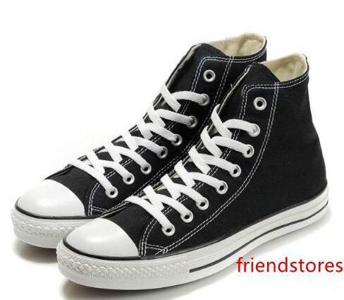 Neue 15 Farben alle Größe 35-46 Unisex Segeltuch-Schuhe Niedrig-Spitze Hohe Sportschuhe Klassische Segeltuch-Schuh-Turnschuhe Zapatillas Deportivas Wohnungen