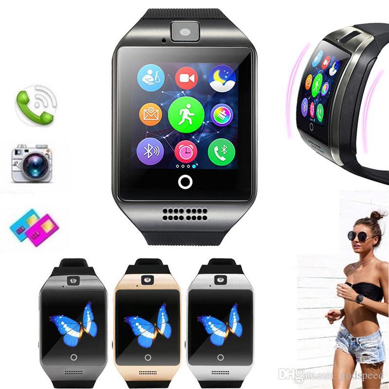 스마트 시계와 카메라 Q18 블루투스 Smartwatch를 지원 SIM TF 카드 피트니스 활동 추적기 스포츠 시계의 경우 안드로이드
