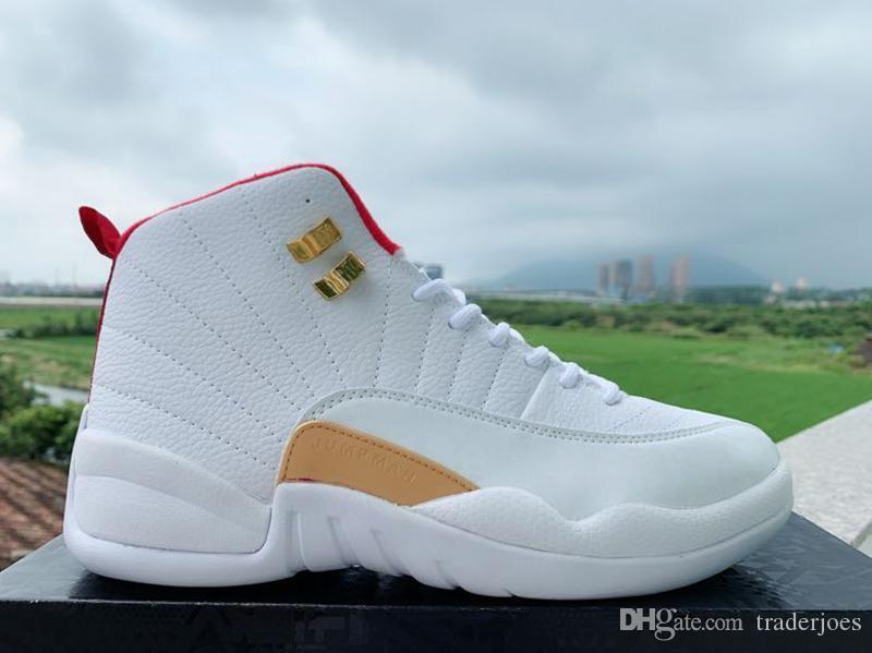 Kutu ile 2019 Erkek ve Bayan Basketbol Ayakkabıları Sneakers 12 S XII Grip Oyunu Kraliyet Taksi FIBA Erkekler için Spor Ayakkab ...