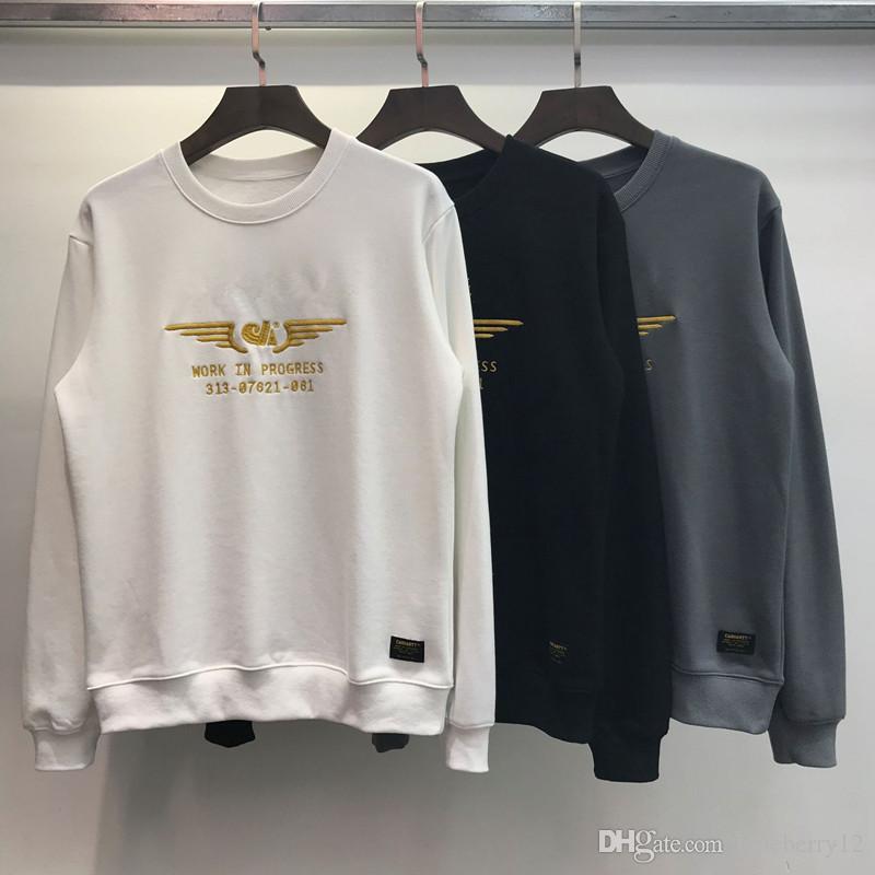여자 남성 아시아 크기 M-2XL에 대한 남성 디자이너 스웨터 Carh 문자 인쇄 19FW 핫 판매 긴 소매 브랜드 후드 티 패션 브랜드 운동복