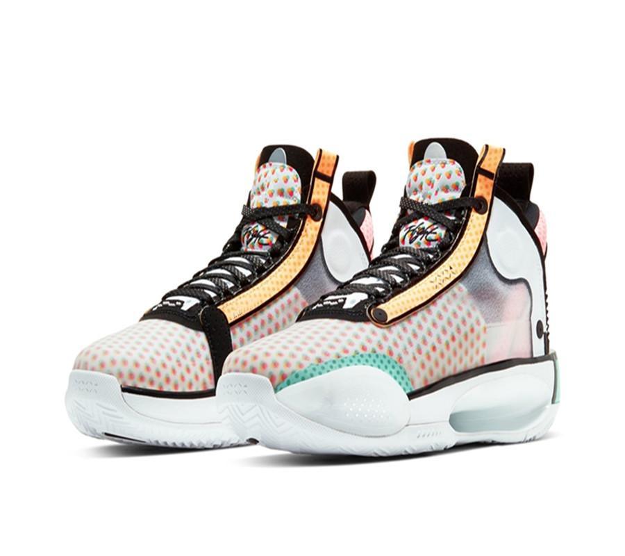 2020 AJ34 Guo Ailun faible PE Pop Art Hommes Femmes Enfant Chaussures de basket-ball avec la boîte Hot Jumpman XXXIV Sport Chaussures Taille 7-12