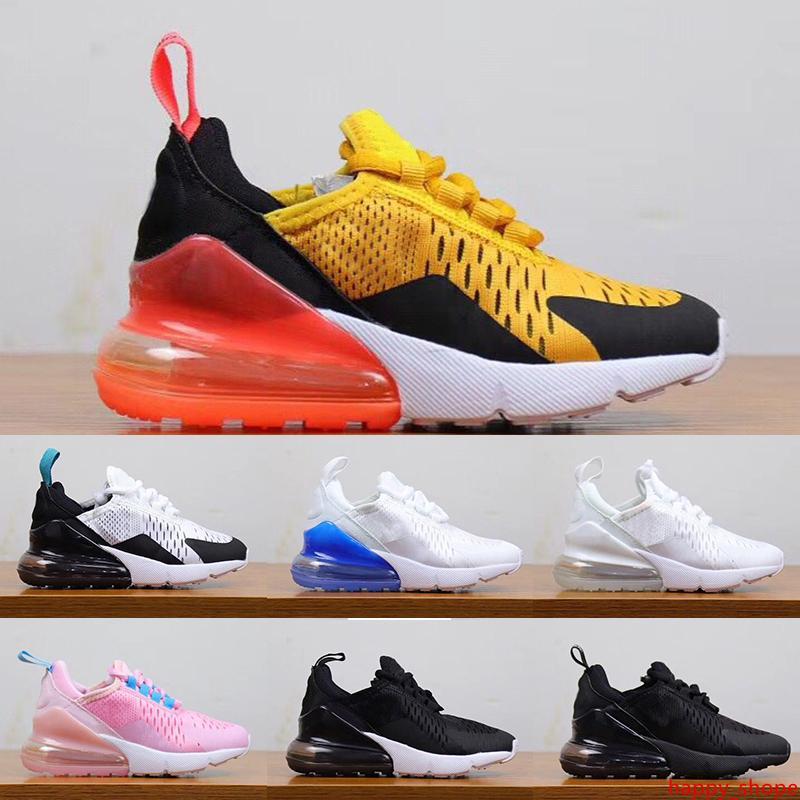Stilista di moda di marca Big scarpe per bambini bambini ragazzi ragazze formatori scarpe da ginnastica ragazzo tigre Hot Punch rosa Triple Black White scarpe da corsa 28-35