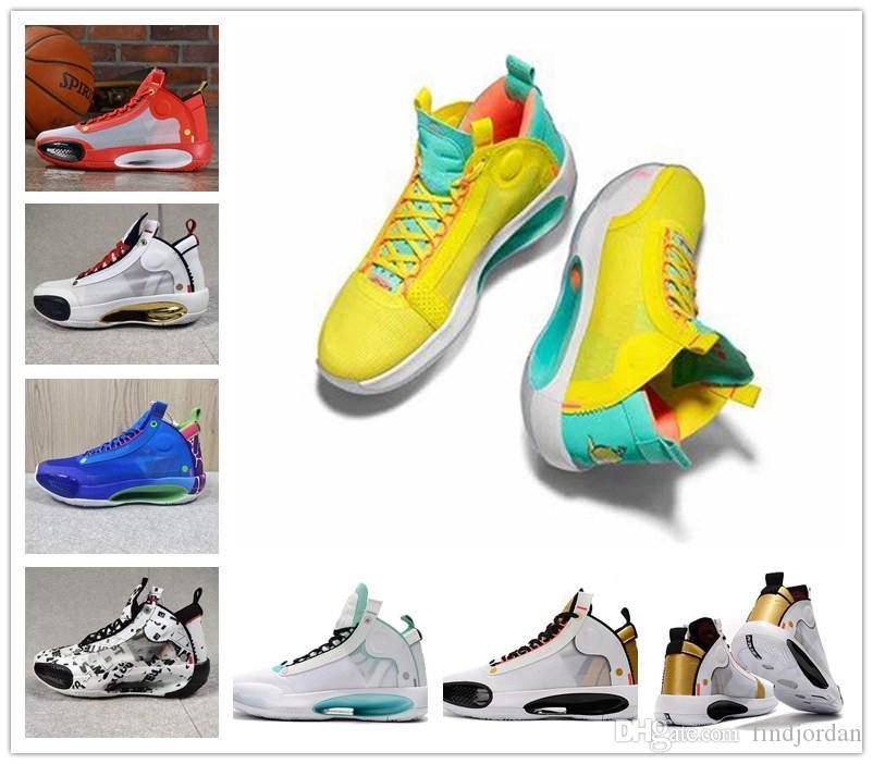 Jayson Tatum 34 XXXIV PE Blau O Männer Basketball-Schuh-Designer Sport-Turnschuh-34s XXXIV Guo Ailun Zoom Red explosiv Licht athletischer Trainer