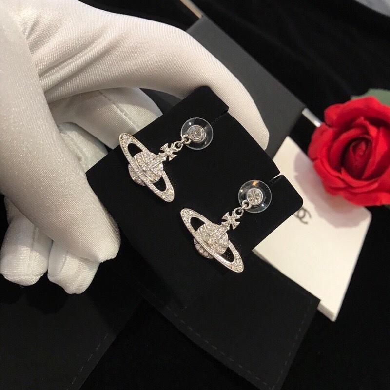 Eleganza, personalità e la bellezza delle donne d'argento moda orecchini ago semplice cerchio di personalità per 032.301