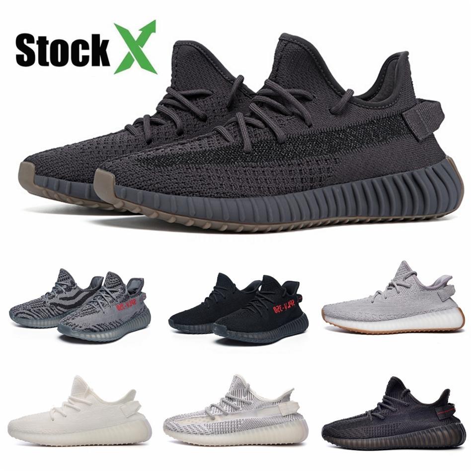 Reflexivo corredor da onda Kanye West V2 Cinza contínuo estática Magnet Teal Carbono Azul Runing sapatos masculinos desenhista calça Mulheres estática Sneakers # QA988