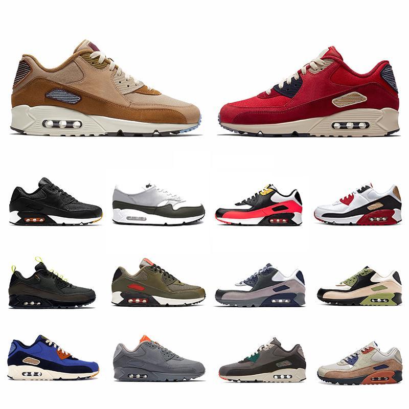 حذاء رياضي Nike air max 90 airmax Premium SE Red 90 للرجال من زيتون متوسط الحجم Lahar Escape Game Royal Camowabb 90s Neon Accents أحذية رياضية للرجال والنساء