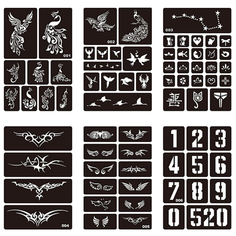 1 Sheet Body Art Hollow Reusable Henna Sticker Stencils For Tattoo Painting Template Airbrush Glitter Tattoo Stencil 275072 Realistic Temporary Tattoo Rockabilly Temporary Tattoos From Ruhui 24 06 Dhgate Com