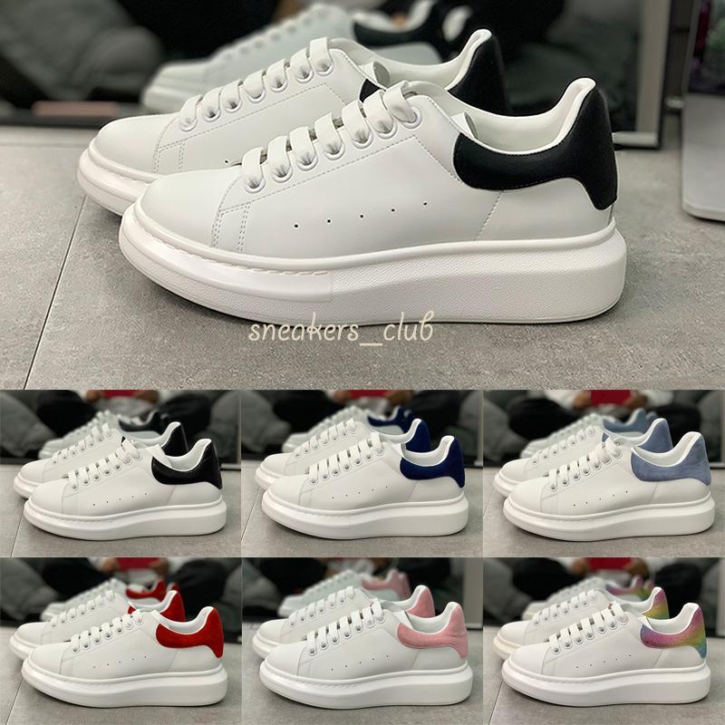 2020 Hommes Femmes chaussures de sport en cuir de 3M réfléchissantes noir femmes blanc Mode Chaussures plates Tennis Taille 36-45