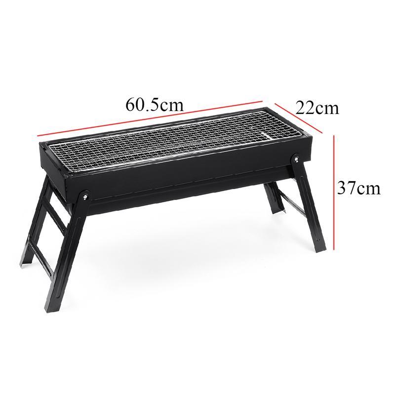캠핑 BBQ 별도의 분리형 접이식 BBQ 그릴에 대한 60.5X22X37cm 바베큐 그릴 휴대용 서랍 숯불 그릴은 쉽게 청소