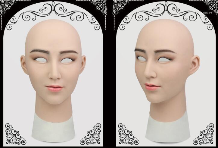 Laurel Veste silicone maschera femminile transgender realistico lattice sexy cosplay per maschi veri Halloween fornisce silicone Female1