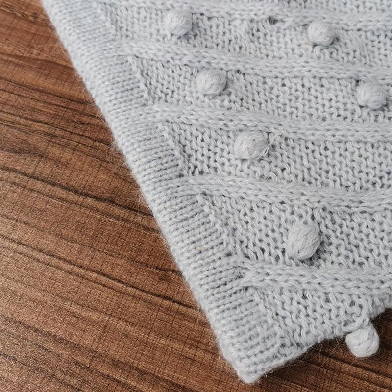 ZYUaf m1x3l Австралия 2020 Трехмерная новый небольшой весной нога украшения шар баранина рукава голову вязаный свитер короткий sweaterblue пот
