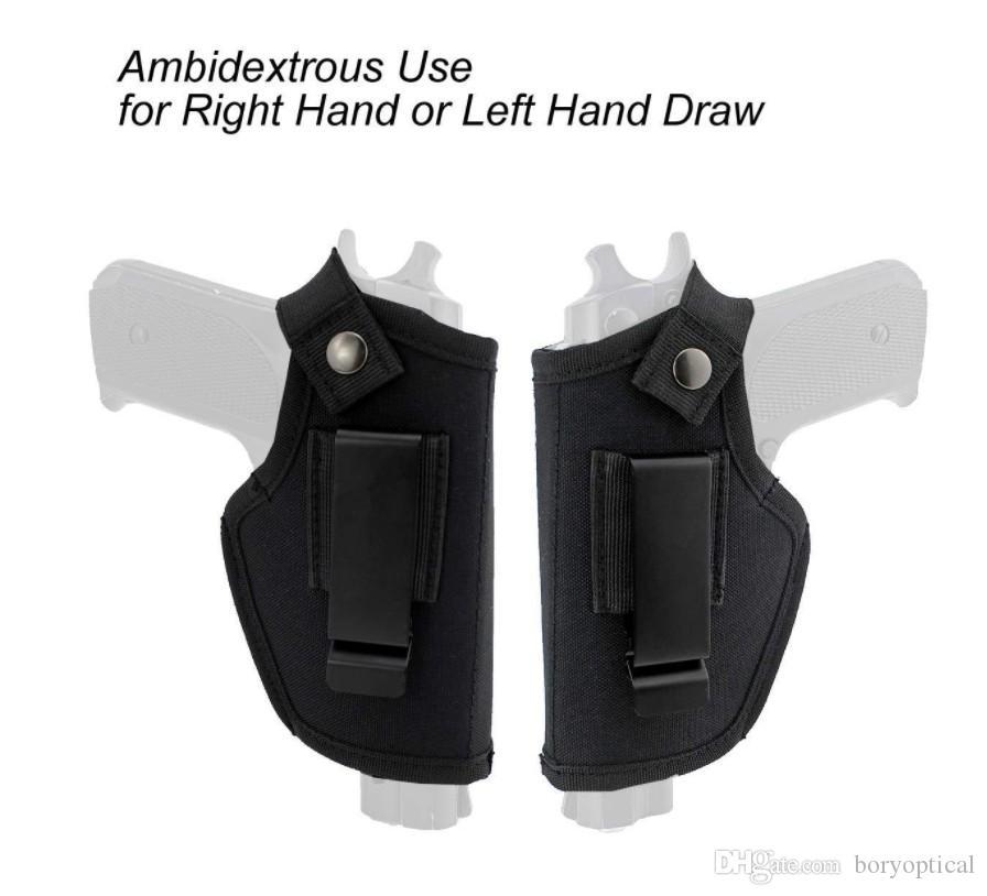 حافظة سلاح مخفية تحمل مشبك حزامي معدني يحمل مسدس IWB OWB Holster Airsoft Gun Bag Hunting Articles For All Sizes Handguns