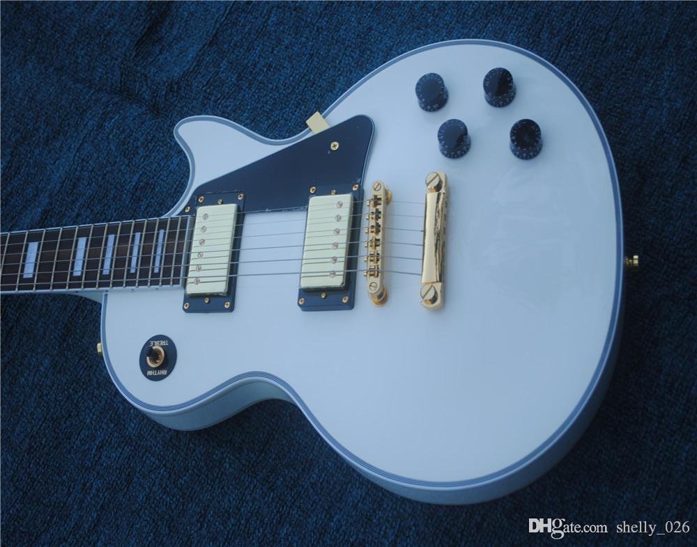 Spedizione gratuita Brinkley 2018 Linea Up White Gold Hardware Chitarra chitarra elettrica Chitarra elettrica, Rostanze in palissandro Guitar chitarra Guitarra Guitarra Guitarra