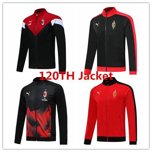 19 20 AC milan veste homme PIATEK Zlatan chemise de formation en jersey Ibrahimovic manteau de football survêtements de football 120e édition anniversaire