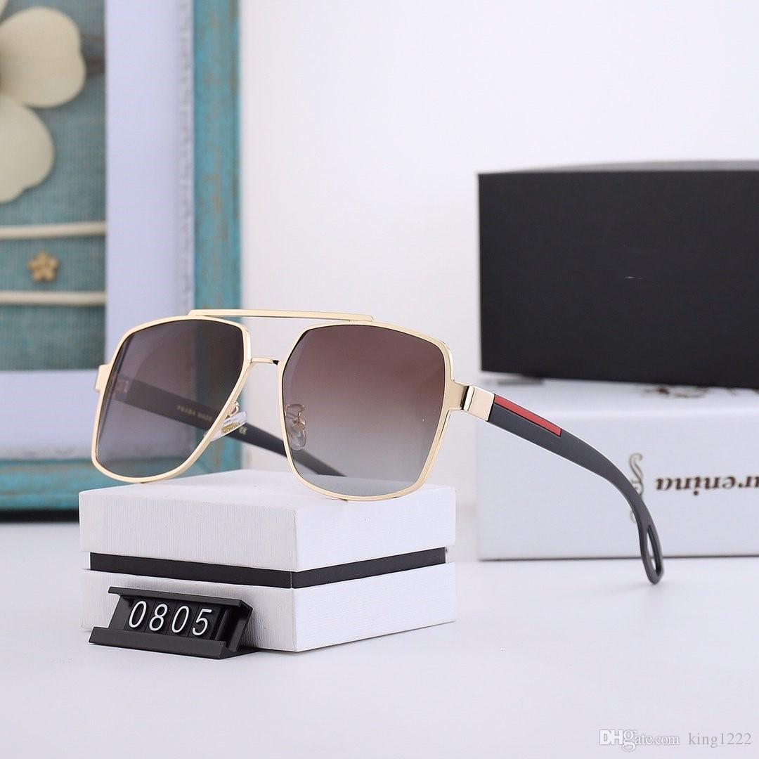 0805 Platz 2020 Sonnenbrille Havana Brown Shaded Sun Glas-Frauen Luxus Designer-Sonnenbrillen neu mit Kasten