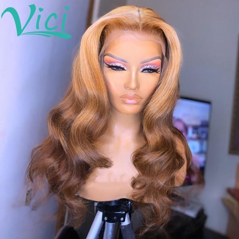 4/27 прозрачные парики шнурка для чернокожих женщин объемная волна парик фронта шнурка парики человеческих волос предварительно сорванные 13x6 цветной фронтальный парик