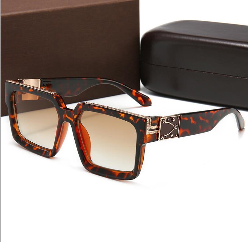 Di lusso MILLIONAIRE Sunglasses per il progettista degli uomini full frame Vintage 1165 1.1 occhiali da sole per gli uomini Shiny logo dell'oro caldo di vendita placcato oro