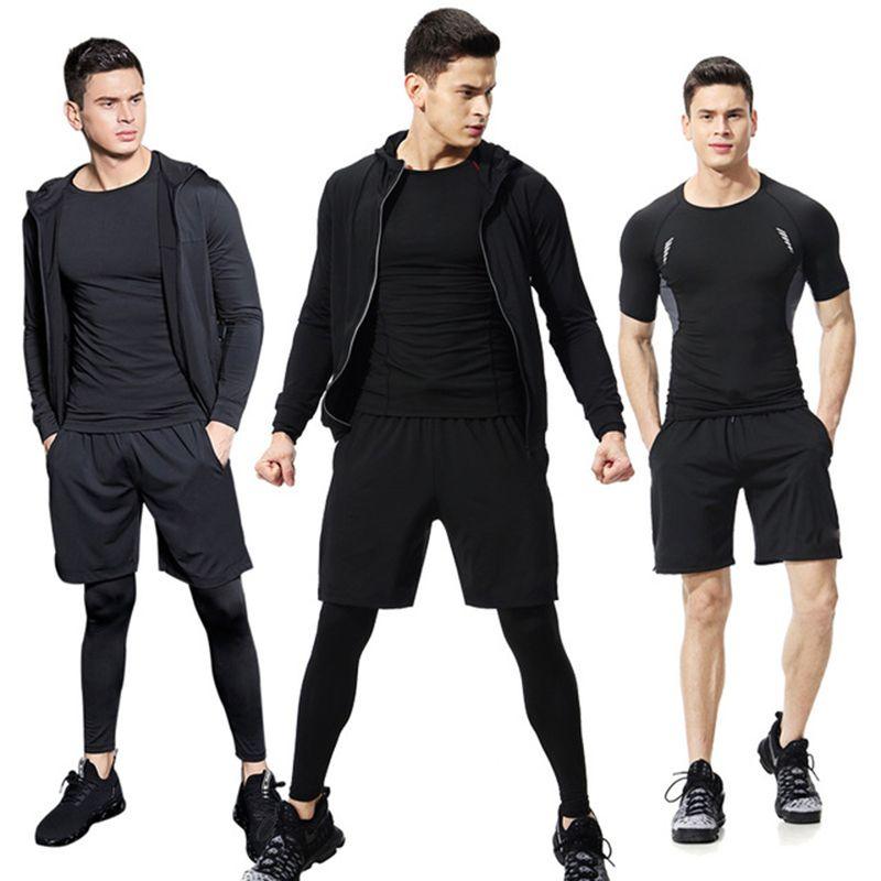 All'ingrosso-Suit Abbigliamento Compression Esecuzione Set Basket Calcio Tennis Palestra Fitness Sportswear Tuta