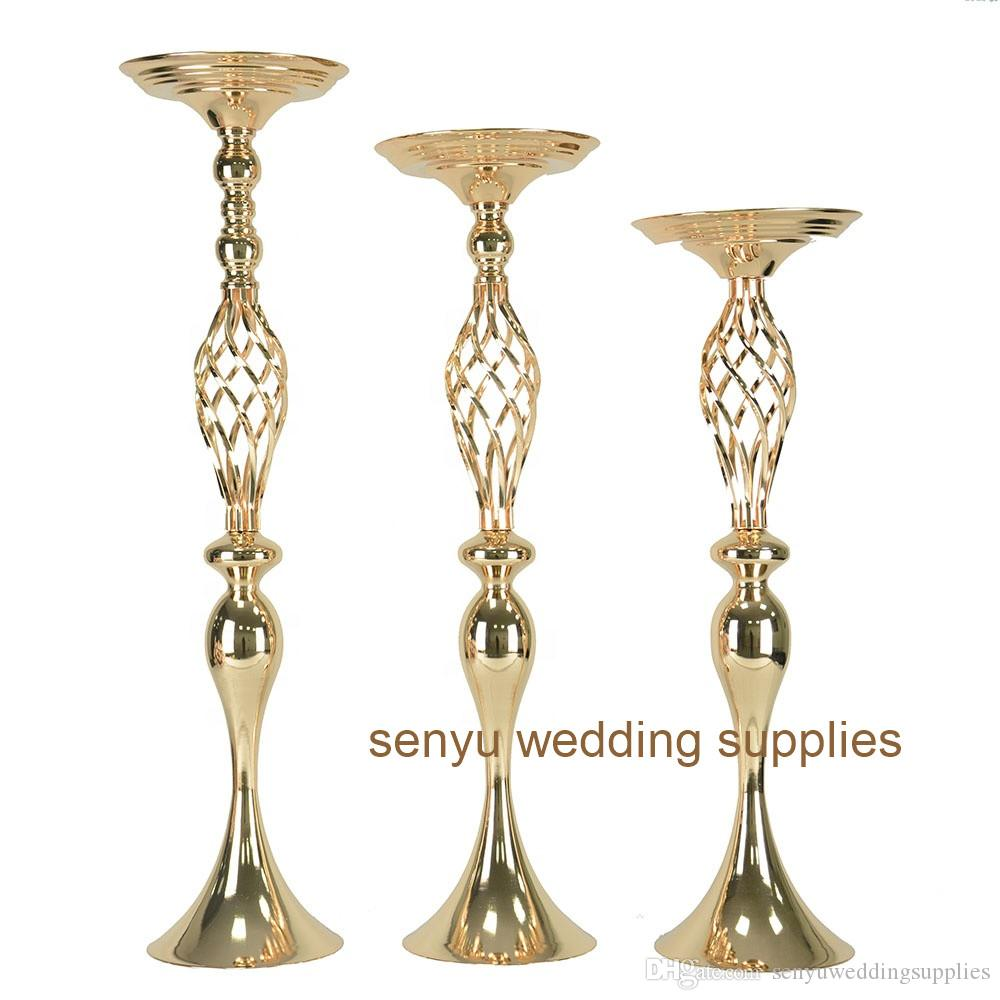 50cm/90cm)Beautiful gold wedding floral stands for wedding party senyu0140