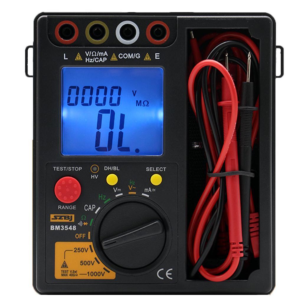 Bm3548 1000v Resistance Meter 2 In 1 Digital Insulation Resistance Test Meter Digital Multimeter Megohmmeter Megger Ohm Tester T8190619