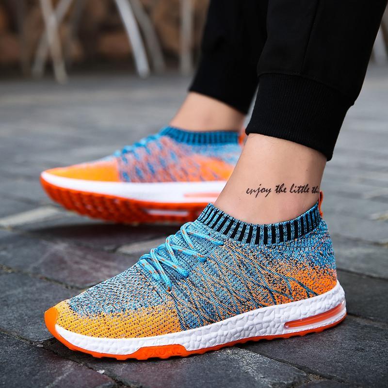 Yeni Nefes Mesh Hafif Spor Koşu Yürüyüş Rahat erkek spor ayakkabısı Hava Kıtıklanması Erkekler -46Z için Ayakkabı Koşu